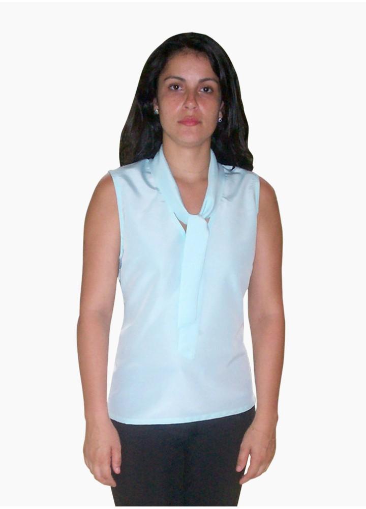 Blusa Feminina com Decote V - Gola e Laço