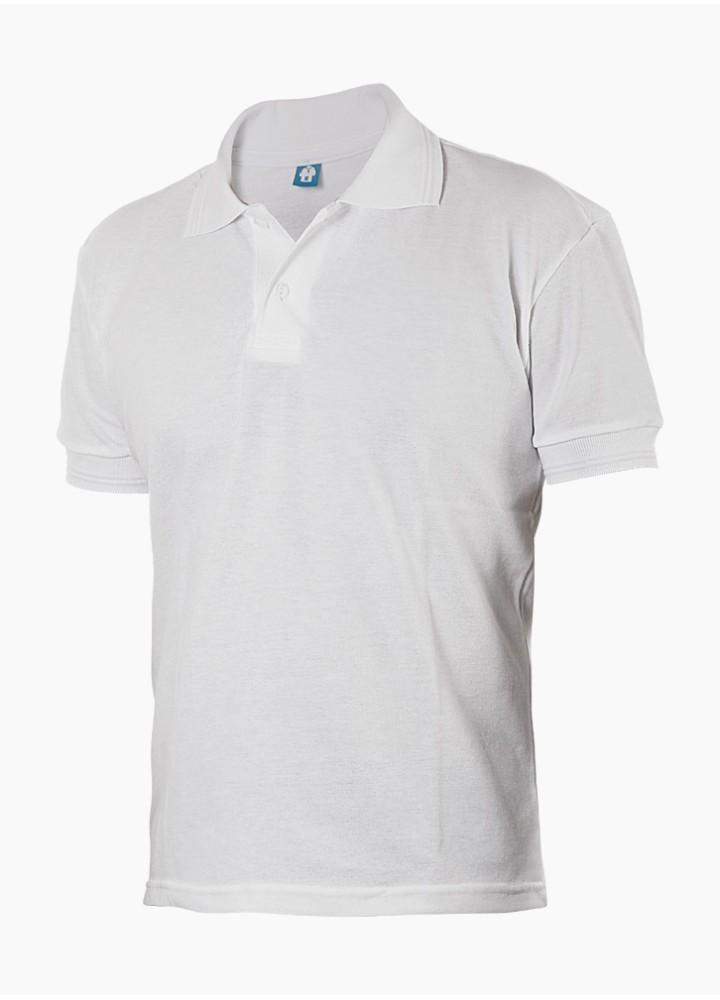 Camisa Polo Masculina Branca com 2 Botões